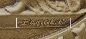 Artists signature on Medal of Honor