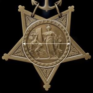 Medallion portion of Medal of Honor