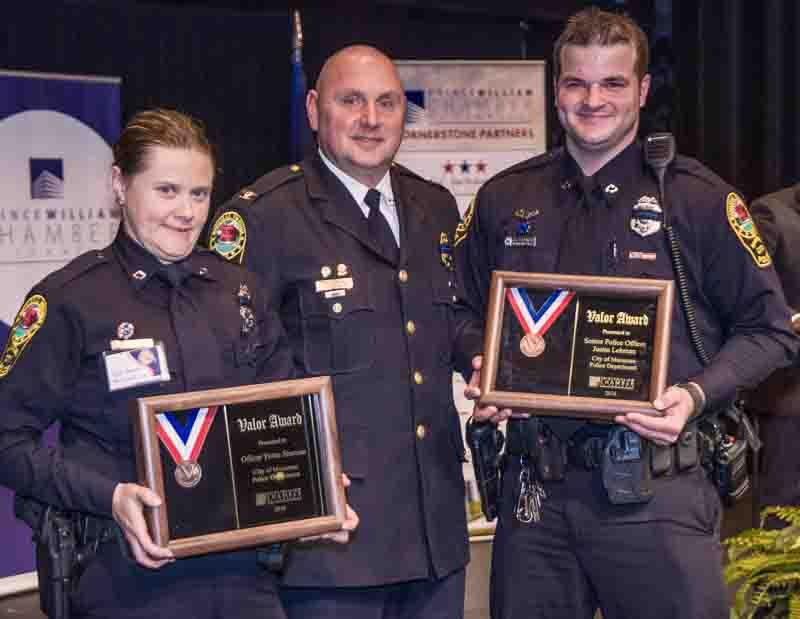 Award photograph shows two police award recipients