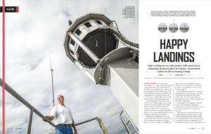 Environmental portrait of ops advisor and camera tower in SPIRIT magazine.