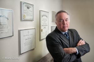 Environmental portrait of an attorney