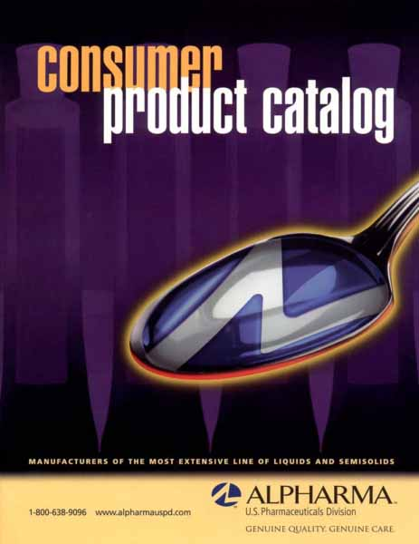 Photo shows a composite of the company logo appearing as liquid on a spoon over a purple background.