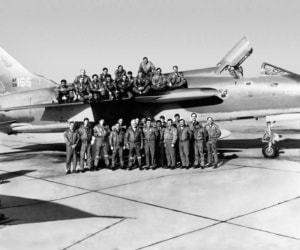 After Photo Restoration a USAF flight squadron during Vietnam