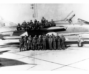 Before Photo Restoration of a USAF flight squadron during Vietnam