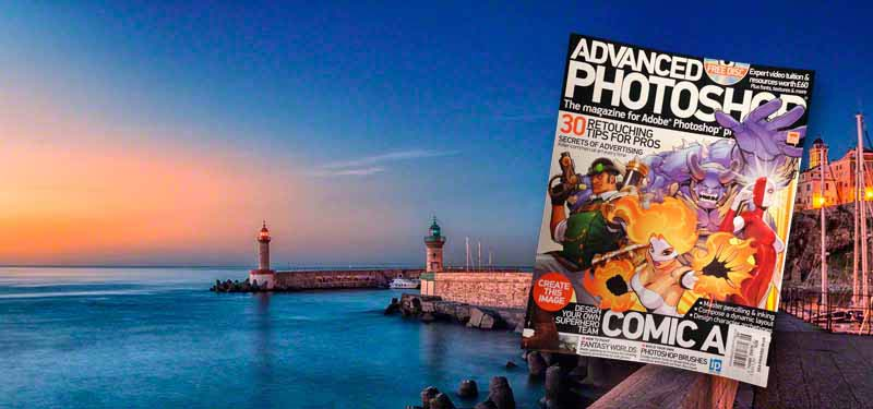 Photo of old port in Bastia, Corsica used in issue 126 of Advanced Photoshop magazine.