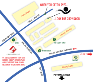 Location Map to Mark Gilvey Creative Photo Studio