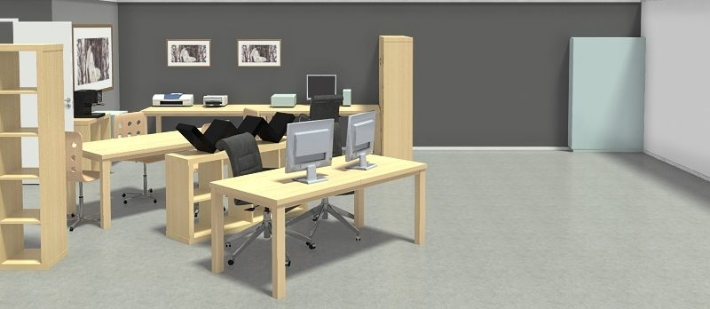 Image showing a 3D render of the main studio space